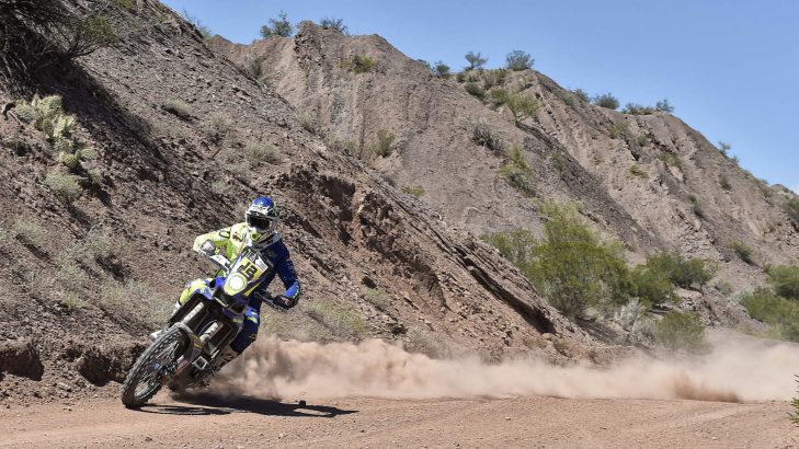 Dakar Rally Update Day-11 Stage 10 – Sherco TVS Factory Rally Team's Adrien Metge Attacks Then Relaxes