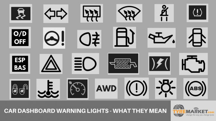 Car Warning Lights What These Dashboard Lights Indicate - Car sign on dashboard