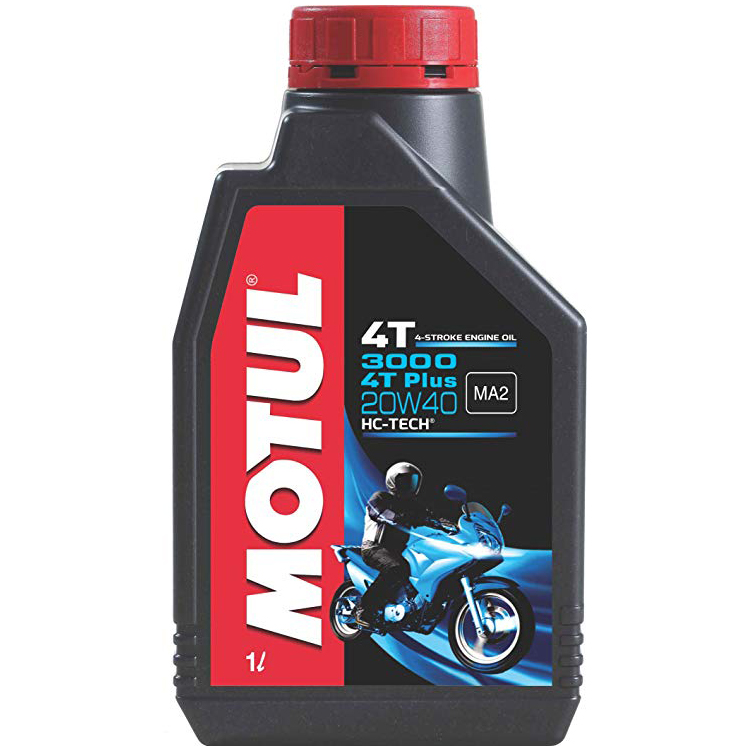Motul 3000 4T PLUS 20w40 Mineral HC-Tech 4 Stroke Motor Cycle 900 ml Two Wheeler Engine Oils