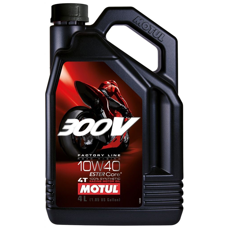 Motul 300V Factory Line 4T 10w40 100% synthetic Estercore 4-Stroke Motor Cycle 1 litre Two Wheeler Engine Oils