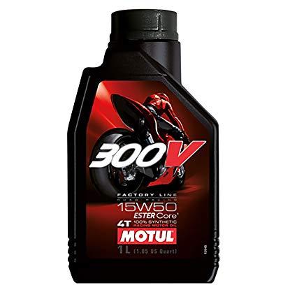Motul 300V Factory Line 4T 15w50 100 percent synthetic Estercore 4-Stroke Motor Cycle 1 litre Two Wheeler Engine Oils