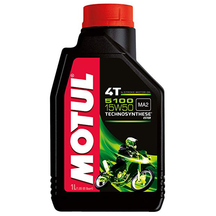 Motul 5100 4T 15w50 Technosynthese Estercore 4 Stroke Motor Cycle 1 litre Two Wheeler Engine Oils