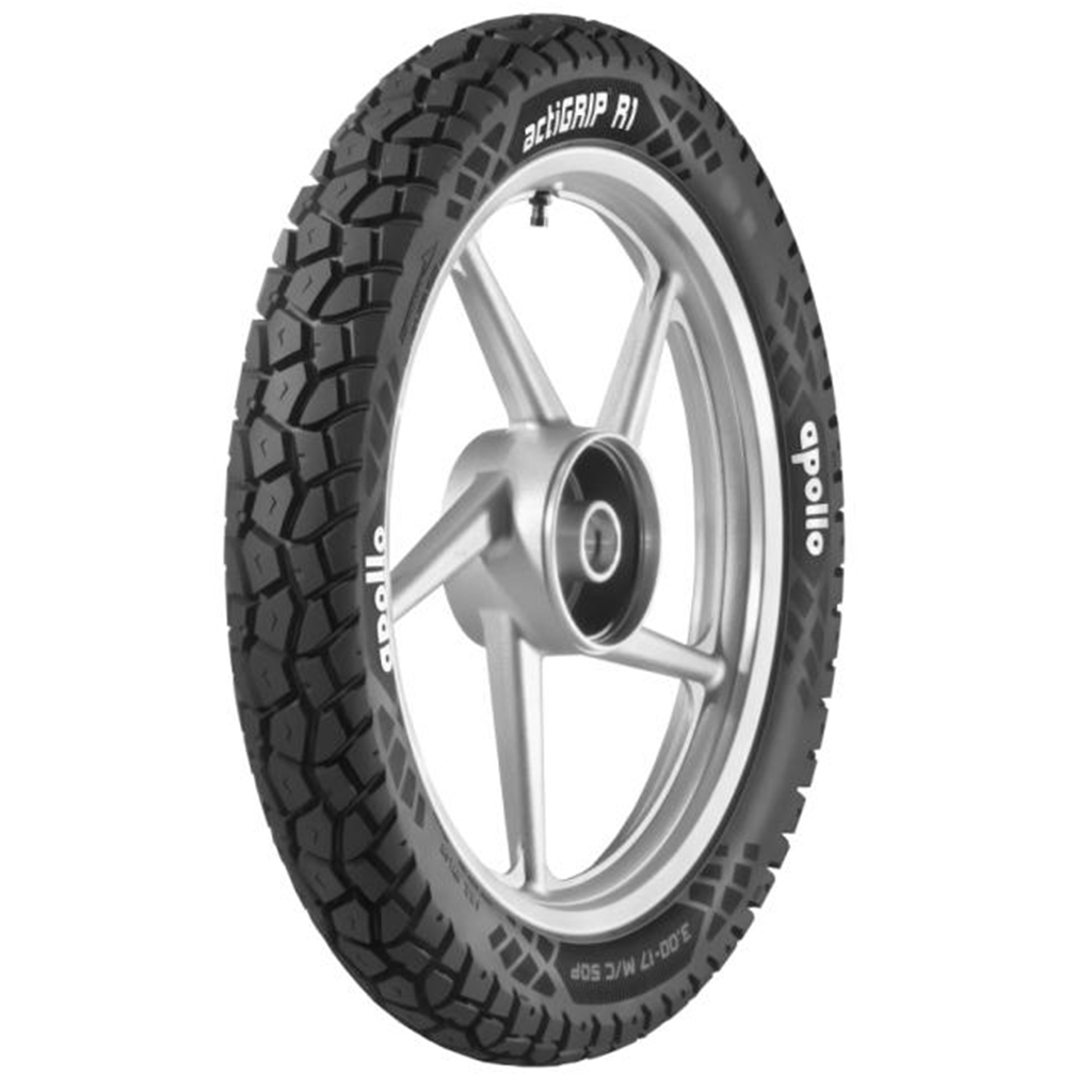 Apollo ACTIGRIP R1 3.00 18 Tubeless 52 P Rear Two-Wheeler Tyre