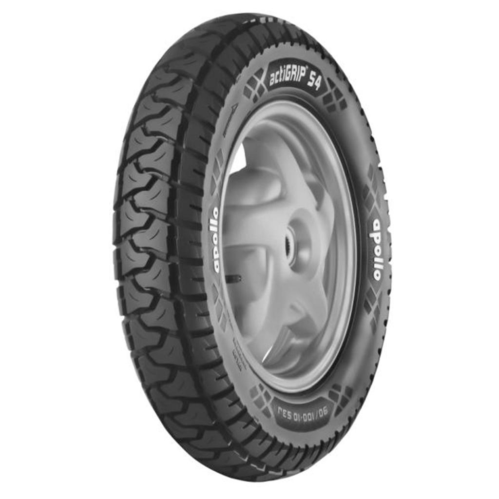 Apollo ACTIGRIP S4 90/100 10 Requires Tube Front/Rear Two-Wheeler Tyre