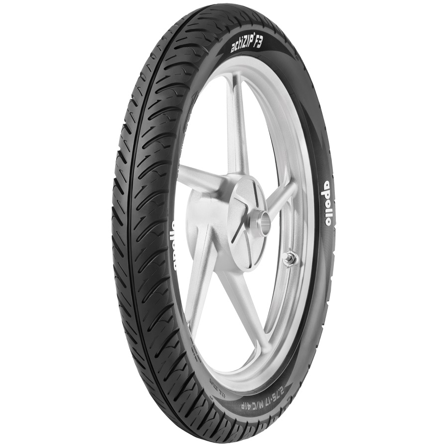 Apollo ACTIZIP F3 D 2-75 R 17 Requires Tube 41 p Front Two-Wheeler Tyre