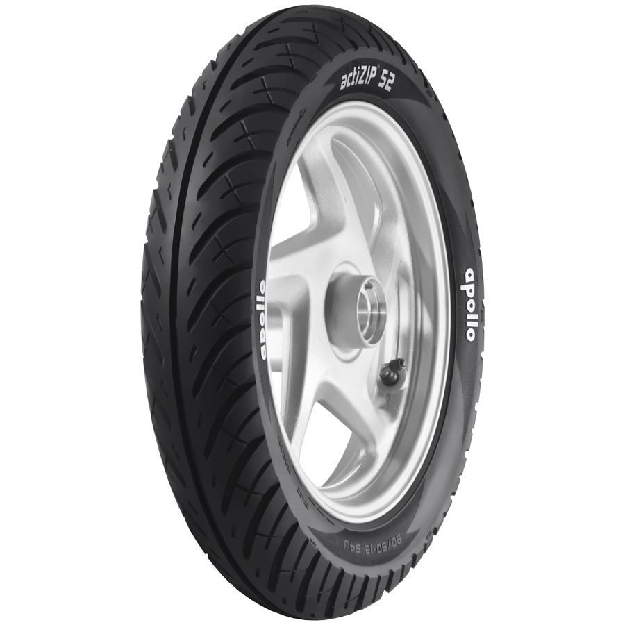 Apollo ACTIZIP S2 D 90/100 R 10 Requires Tube 53 J Front/Rear Two-Wheeler Tyre