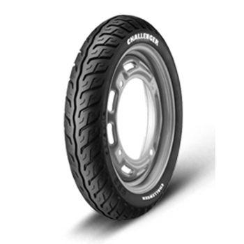 JK CHALLENGER S63 90/100 10 Requires Tube 53 J Front/Rear Two-Wheeler Tyre