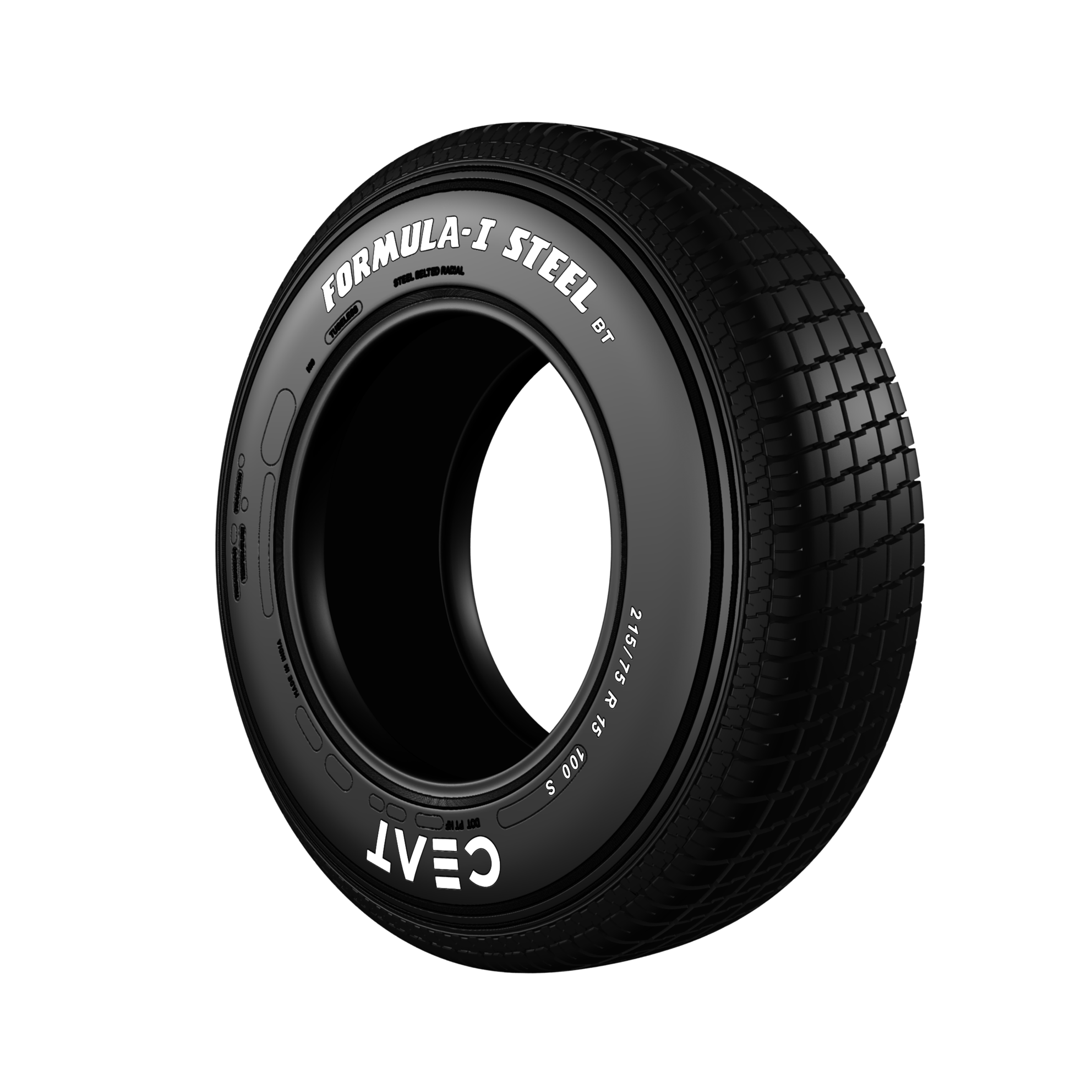 Ceat Formula-I Steel BT 215/75 R 15 Requires Tube 100 S  Car Tyre