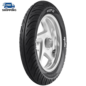 Apollo ACTIZIP S2 TL 90/100 R 10 Tubeless   Front/Rear Two-Wheeler Tyre