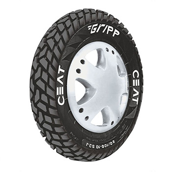 CEAT GRIPP 90/100 10 Requires Tube 53 J Front/Rear Two-Wheeler Tyre