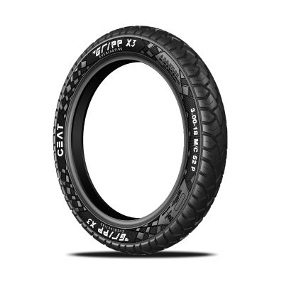 CEAT GRIPP X3 3.00 18 Requires Tube 52 P Rear Two-Wheeler Tyre