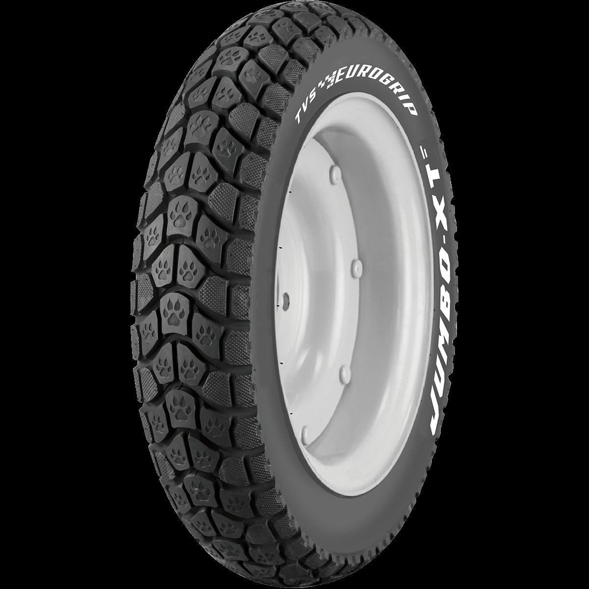 TVS Jumbo_XT 90/100 10 Tubeless 53 J Front/Rear Two-Wheeler Tyre
