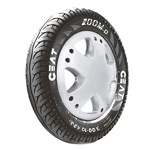 Ceat ZOOM D 90/100 R 10 Requires Tube 53 J Front/Rear Two-Wheeler Tyre