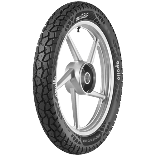 Apollo ACTIZIP R5 120/80 18 Requires Tube 62 P Rear Two-Wheeler Tyre