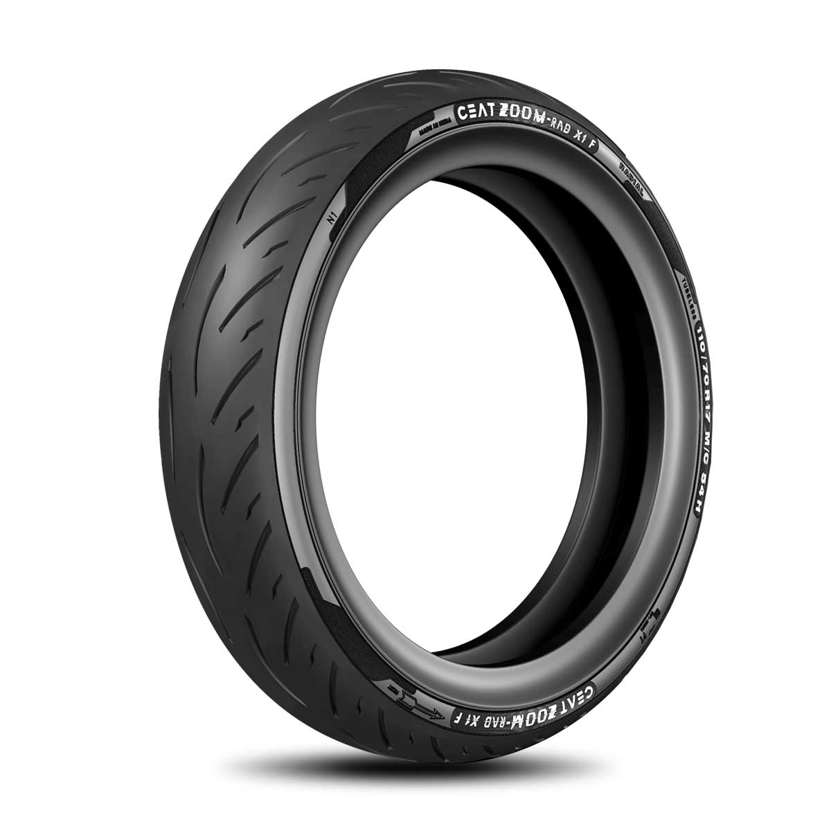 CEAT Rad X1 110/70 ZR17 Tubeless 54 H Front Two-Wheeler Tyre