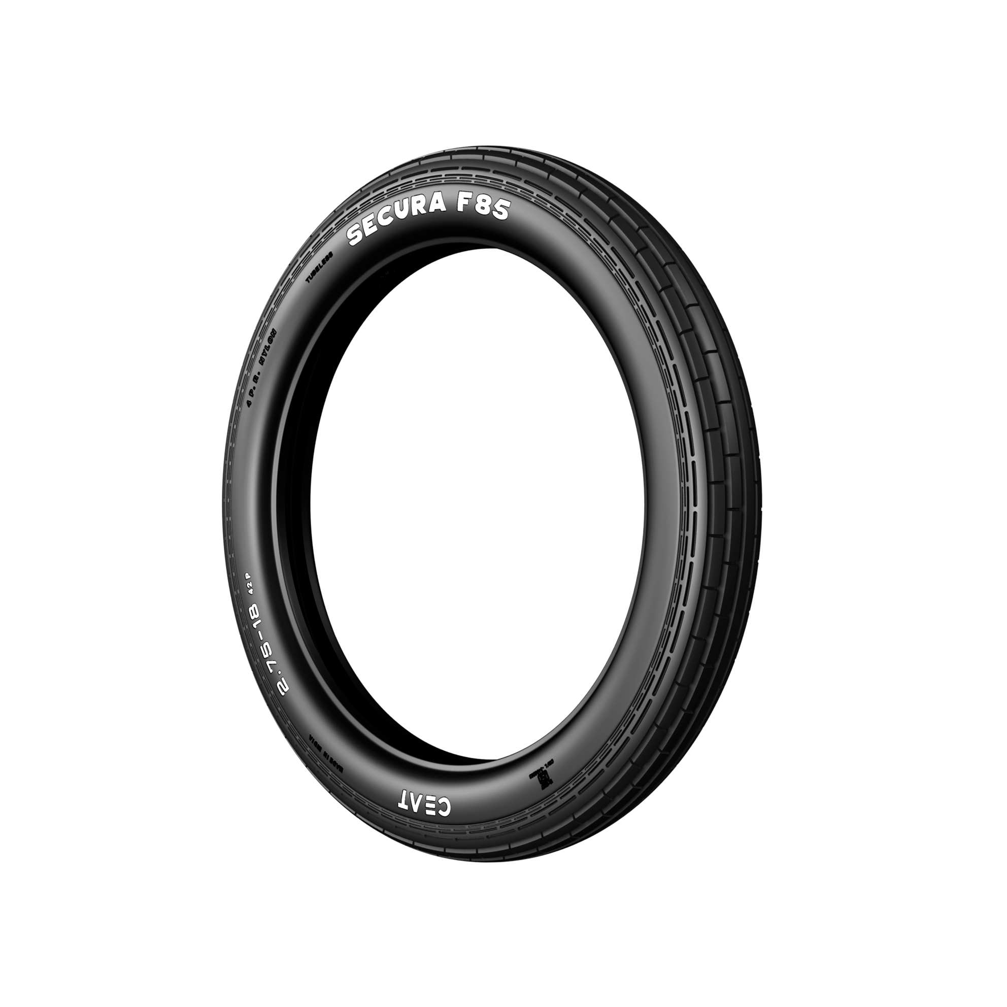 Ceat SECURA F85 2.75 R 18 Requires Tube   Front Two-Wheeler Tyre