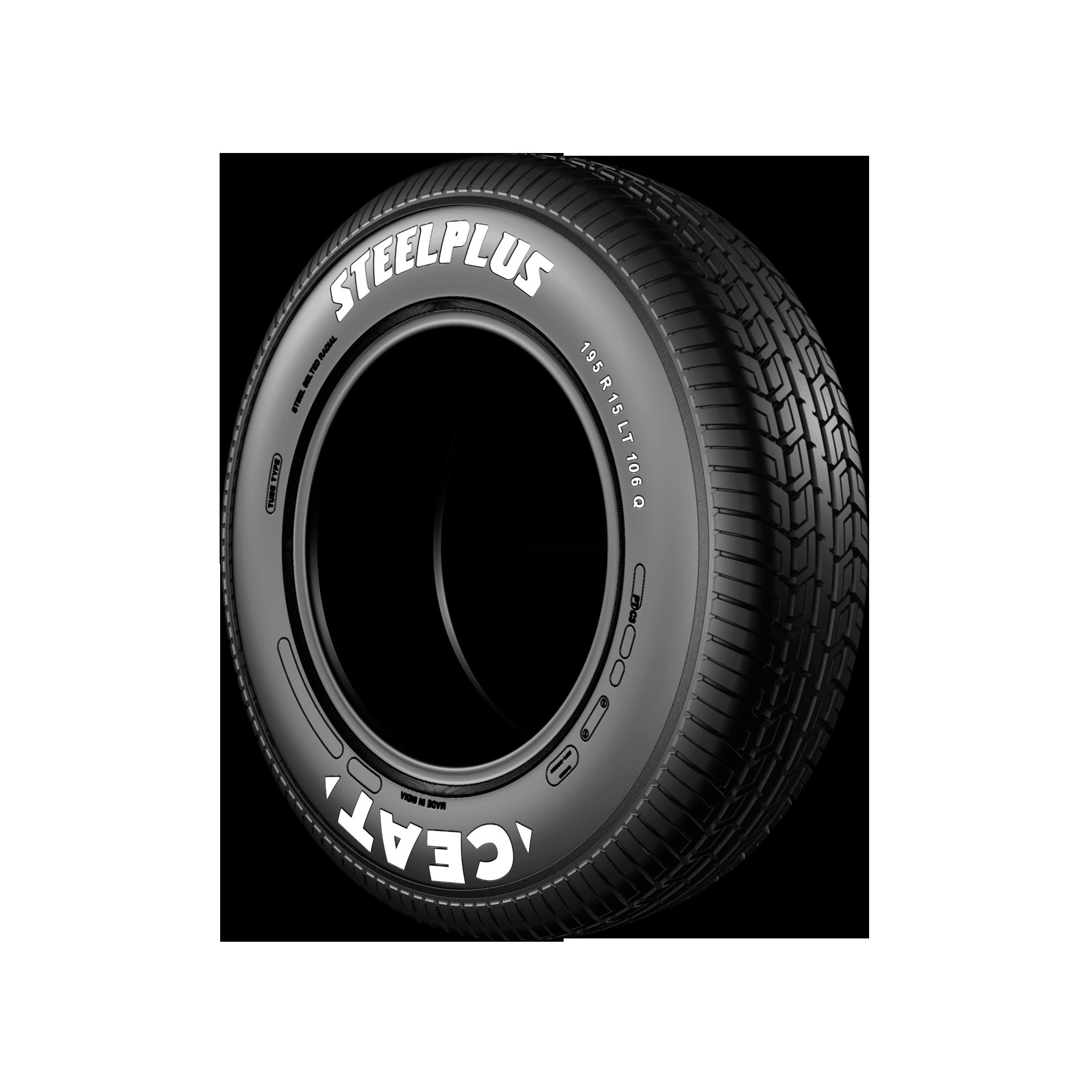CEAT STEEL PLUS 195/80 R 15 Requires Tube 105 Q Car Tyre