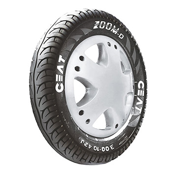 CEAT ZOOM D 90/100 10 Requires Tube 53 J Front/Rear Two-Wheeler Tyre