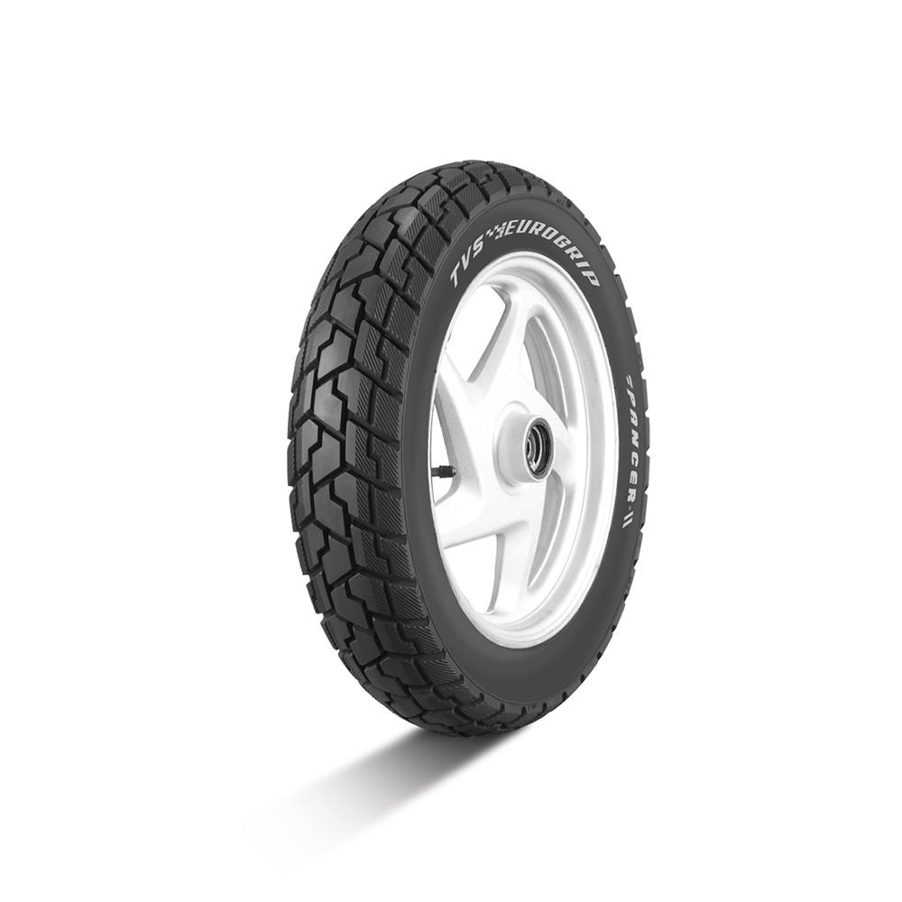 TVS Pancer II 90/100 10 Tubeless 53 J Front/Rear Two-Wheeler Tyre
