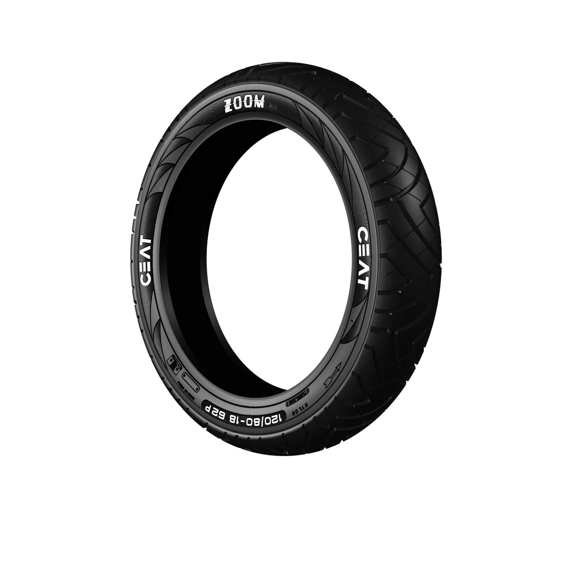 CEAT ZOOM 100/90 17 Tubeless 56 P Rear Two-Wheeler Tyre