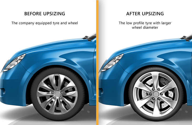 tyre upsizing benefits