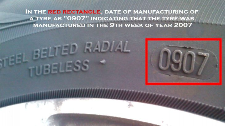 How To Determine The Date Of Manufacturing Of A Tyre