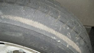 tyre wear misaligned wheels