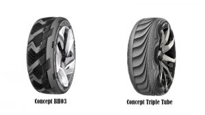 goodyear concept bho3 and concept triple tube tyres