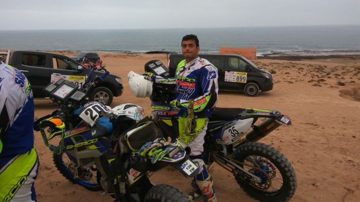 OiLibya Rally of Morocco – Sherco TVS Rally Factory Team's Aravind KP At 24th place in 450cc class