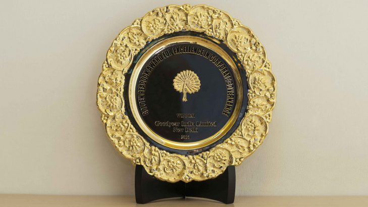 Goodyear India grabs the Prestigious Golden Peacock Award for 'Excellence in Corporate Governance'