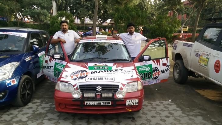 Jathin & Arjun at Maruti Suzuki Desert Storm 2017