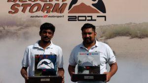 Tyremarket 4th Position in Desert Storm Rally 2017