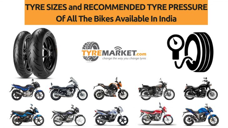 Indian Bikes With Their Tyre Sizes And Recommended Tyre Pressure PSI