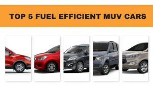 fuel efficient muvs in India