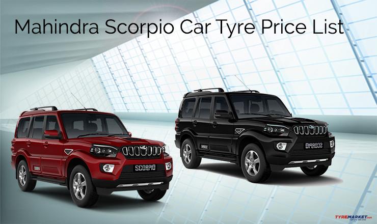 Mahindra Scorpio Tyre Price