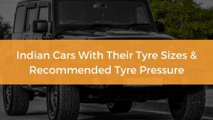 Indian Cars With Their Tyre Sizes