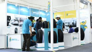 Jinyu Tires Tyrexpo India 2018