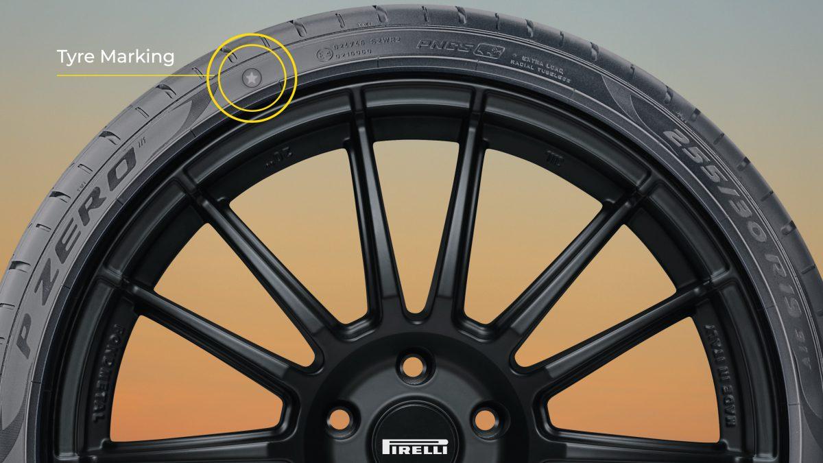 Pirelli tyre markings PZERO tyre