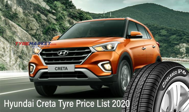 Hyundai Creta Tyre – Recommended Tyres for Creta with Price in India