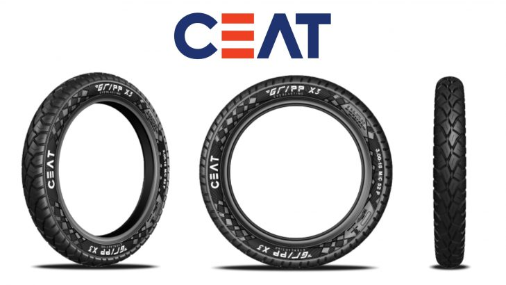 CEAT Launches New Gripp X3 Range Of Tyres For Motorbikes In India