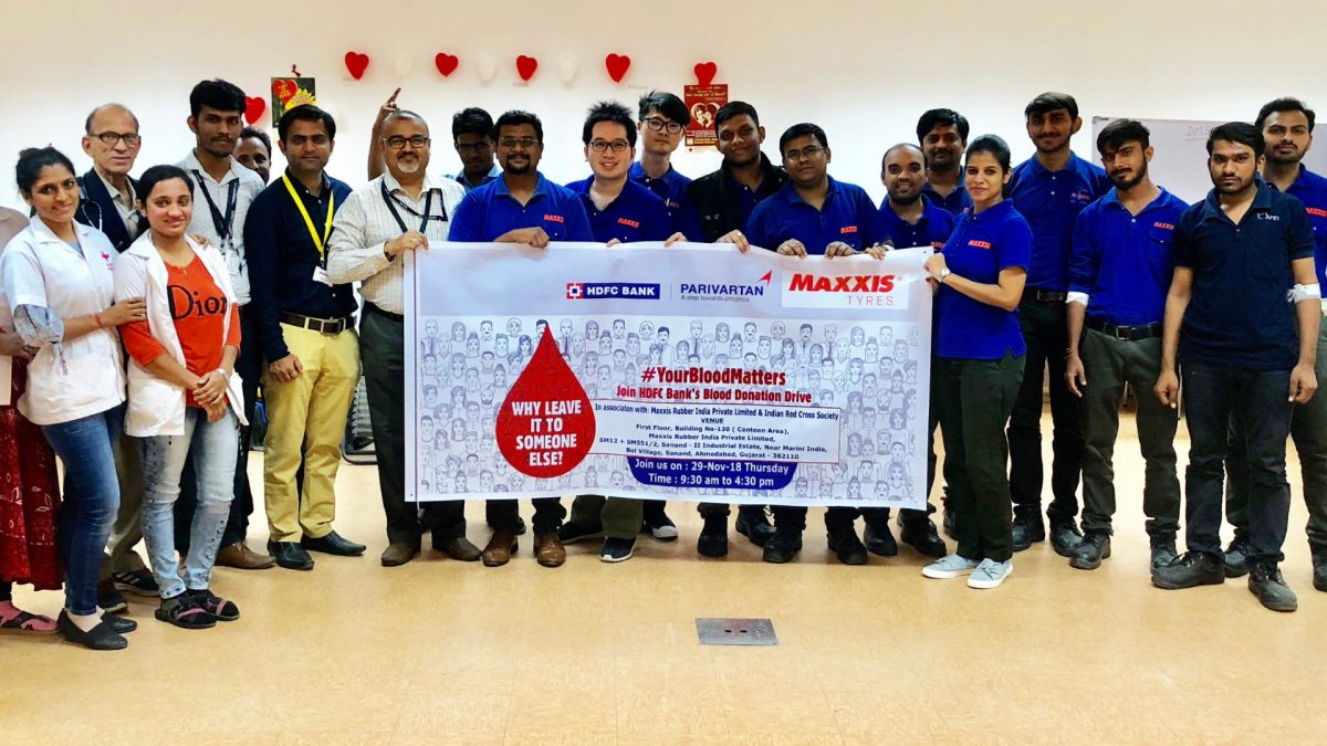 Maxxis Tyres Blood Donation Camp Sanand Plant