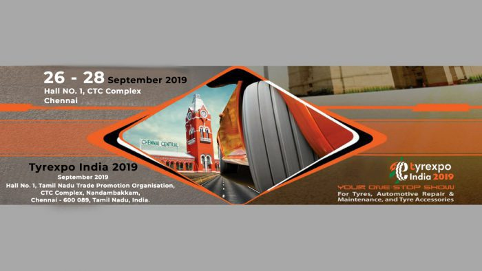 Tyrexpo India 2019 to be held at Chennai Trade Centre, Chennai from 26th-28th September
