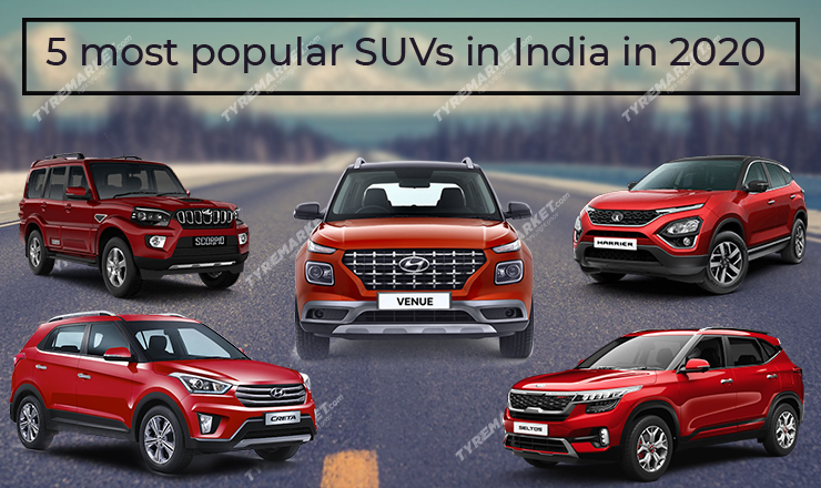 5 Most Popular SUVs in India in 2020 with Recommended Tyre Size