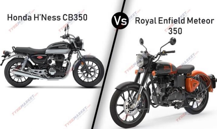 Review of Honda H'ness CB350 vs Royal Enfield Meteor 350 Comparison – Who Wins?