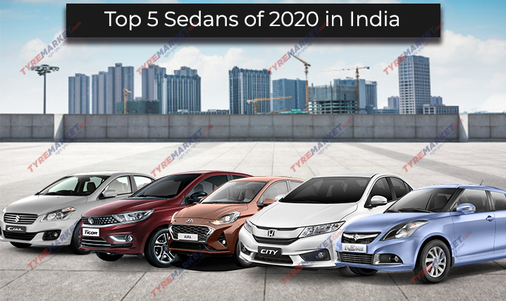 Top 5 Sedans of 2020 in India and Recommended Tyres